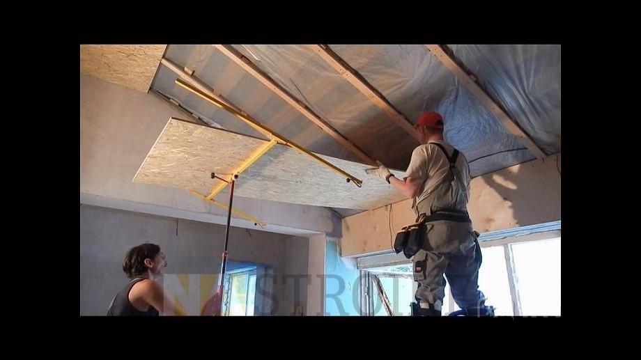 Двп на потолок своими руками 160